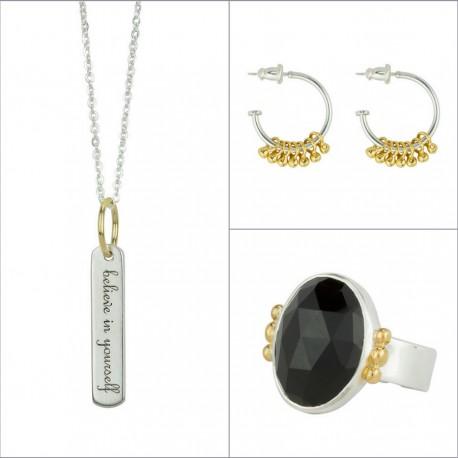 SILVER+GOLD+BLACK